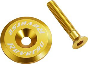 REVERSE COMPONENTS STEM CAP WITH SCREW REVERSE COMPONENTS GOLD
