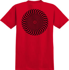 SPITFIRE YOUTH CLASSIC SWIRL   RED W/ BLACK PRINTS