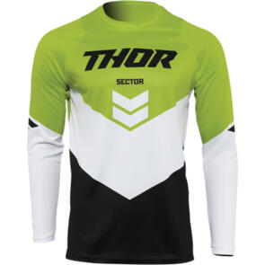 THOR 2022 SECTOR YOUTH CHEVRON JERSEY BLACK/GREEN