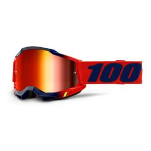 100% ACCURI 2 GOGGLE KEARNY - MIRROR RED LENS