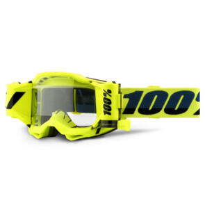 100% ACCURI FORECAST MOTO GOGGLE YELLOW - CLEAR LENS