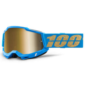100% ACCURI MOTO GOGGLE WATERLOO - TRUE GOLD LENS