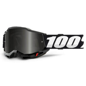 100% ACCURI SAND 2 GOGGLE BLACK - SMOKE LENS