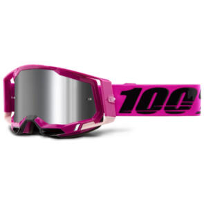 100% RACECRAFT MOTO GOGGLE MAHO - SILVER FLASH LENS
