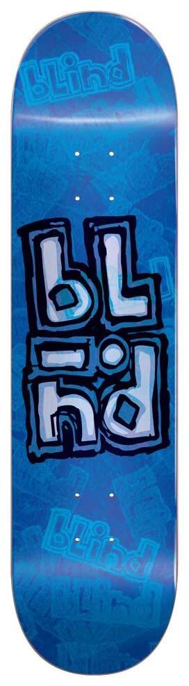 BLIND OG STACKED STAMP BLUE 8.25