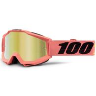 100% ACCURI MOTO GOGGLE ROGEN - MIRROR GOLD LENS