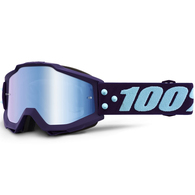 100% ACCURI YOUTH MOTO GOGGLE MANEUVER - MIRROR BLUE LENS