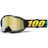 100% ACCURI YOUTH MOTO GOGGLE VIRGO - MIRROR GOLD LENS