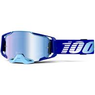 100% ARMEGA MOTO GOGGLE ROYAL - BLUE MIRROR LENS