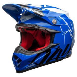 BELL MOTO HELMETS 2020 MOTO-9 FLEX FAST HOUSE DAY IN THE DIRT BLUE/WHITE