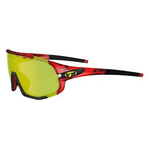 TIFOSI SLEDGE,CRYSTAL RED, CLARION_YELLOW/AC RED/CLEAR LENS