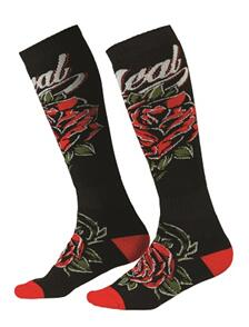 ONEAL PRO 22 SOCK ROSES BLK/RD