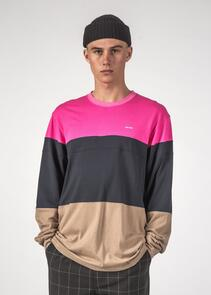 THING THING DICED LS TEE MAGENTA/NAVY