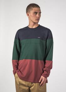 THING THING DICED LS TEE NAVY/FOREST/SIENNA