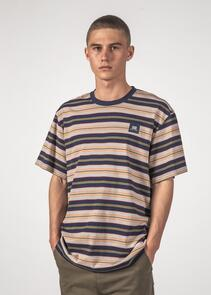 THING THING STRIPED SS TEE NAVY STRIPE