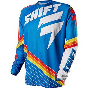 SHIFT STRIKE STRIPES JERSEY [BLUE]