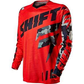 SHIFT FACTION CAMO JERSEY [RED]