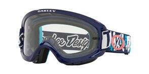 OAKLEY O FRAME 2.0 PRO XS - TLD ANARCHY BLUE MX GOGGLES WITH CLEAR LENS