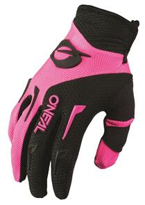 ONEAL 2022 ELEMENT GLOVES - BLACK/PINK (YOUTH GIRL'S)