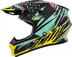 THH T710X ASSAULT HELMET - TEAL/YELLOW (YOUTH)