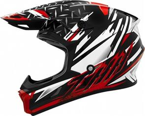 THH T710X ASSAULT HELMET - WHITE/RED (ADULT)