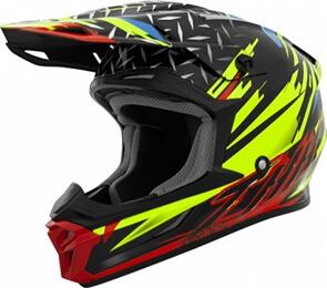 THH T710X ASSAULT HELMET - YELLOW/RED (ADULT)