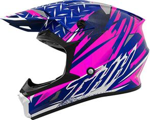 THH T710X ASSAULT HELMET - BLUE/PINK (YOUTH)