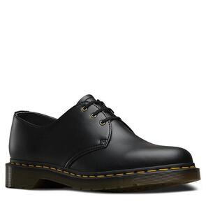 DR MARTENS 1461 VEGAN 3 EYE BLACK FELIX RUB OFF