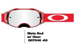 OAKLEY AIRBRAKE - MOTO RED MX GOGGLES WITH CLEAR LENS