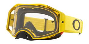 OAKLEY AIRBRAKE - MOTO YELLOW MX GOGGLES WITH CLEAR LENS