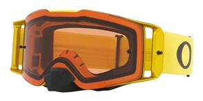 OAKLEY FRONT LINE - MOTO YELLOW MX GOGGLES WITH PRIZM BRONZE LENS