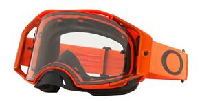 OAKLEY AIRBRAKE - MOTO ORANGE MX GOGGLES WITH CLEAR LENS