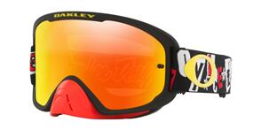 OAKLEY O FRAME 2.0 PRO - TLD ANARCHY BLACK RED MX GOGGLES WITH FIRE IRIDIUM LENS