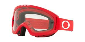 OAKLEY O FRAME 2.0 PRO XS - MOTO RED MX GOGGLES WITH CLEAR LENS