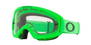 OAKLEY O FRAME 2.0 PRO XS - MOTO GREEN MX GOGGLES WITH CLEAR LENS