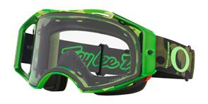 OAKLEY AIRBRAKE MTB -TLD DAZZLE GREEN GOGGLES WITH PRIZM LOW LIGHT LENS