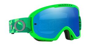 OAKLEY O FRAME 2.0 PRO MTB - TLD STAR DAZZLE GREEN GRAY GOGGLES WITH BLACK ICE LENS