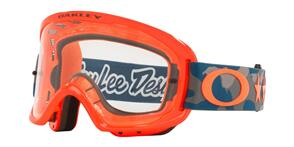 OAKLEY O FRAME 2.0 PRO MTB - TLD STAR DAZZLE ORANGE GRAY GOGGLES WITH CLEAR LENS