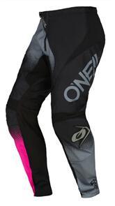 ONEAL 2022 ELEMENT RACEWEAR PANTS - BLACK/GRAY/PINK (YOUTH WOMEN'S)