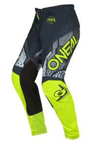ONEAL 2022 ELEMENT PANTS - CAMO GRAY/NEON YELLOW (YOUTH)