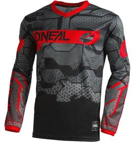 ONEAL 2022 ELEMENT JERSEY - CAMO BLACK/RED (ADULT)