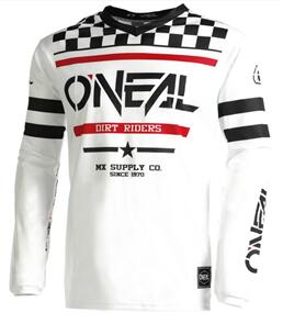 ONEAL 2022 ELEMENT JERSEY AND PANT SQUADRON - WHITE/BLCK
