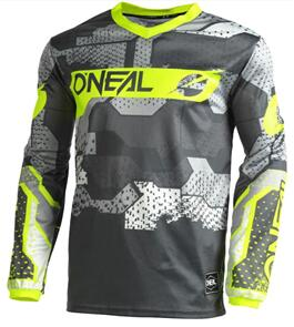 ONEAL 2022 ELEMENT JERSEY - CAMO GRAY/NEON YELLOW (ADULT)