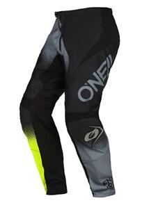 ONEAL 2022 ELEMENT RACEWEAR PANTS - BLACK/GRAY/YELLOW (ADULT)