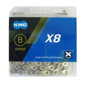 KMC CHAIN 1/2X3/32 KMC 8SP SILVER 116L Z92 (EA)