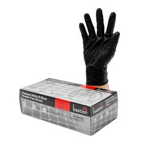 MISC NITRILE GLOVES HEAVY DUTY 100/BOX POWDER FREE BLACK (BOX)