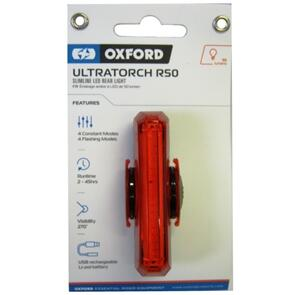 OXFORD LIGHT ULTRATORCH SLIMLINE R50 REAR USB LED LD751 (EA)