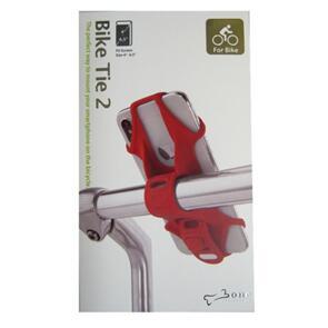 BONE COLLECTION BIKE TIE SMARTPHONE HOLDER H/BAR MOUNT RED (EA)