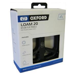 """OXFORD PEDALS LOAM 20 NYLON 9/16"""" BLACK (PR)"""