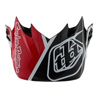 TROY LEE DESIGNS SE4 VISOR METRIC BLK/RED